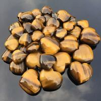 Natural Tiger's-Eye Stone Crystal Carved Heart Healing-Gemstone Valentine's -Day