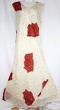 XXXL 3X Plus Boho Spring Summer Gypsy Dress Floral Sheath Sleeveless Maxi Tunic