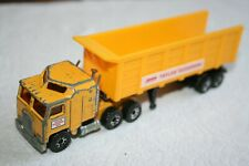 Matchbox - 1981 Yellow KENWORTH LORRY & TIPPER TRAILER - Diecast