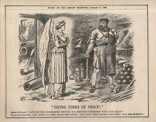 TSARIST RUSSIA & ITSTRADE IN WAR - JOHN TENNIEL 'PUNCH' CARTOON  December 1898)
