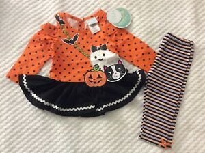 12 Month Girls' 2 Piece Halloween Tunic and Matching Leggings-NEW WITH TAGS!