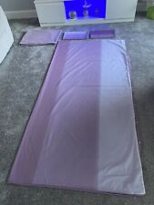 Purple Double Bed Duvet Cover & Pillow Cases And Fitted Sheet