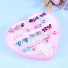 7 X Acrylic Kids Clip-on Earrings Girls Play Ear Clip Decorations Party Favors