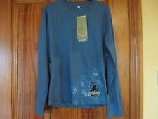 Regatta Age 10 Wild Shores Long Sleeve Blue Top 100% Cotton Brand New with Tag