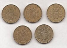 5 monedas-cien Pesetas Españolas - 1983, 1984 y 1986