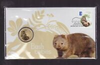 2013 Australian Bush Babies Series Wombat $1 Coin Stamp Set PNC FDC