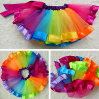 Girls Kids Toddler Ballet Tutu Princess Dress Up Dance Wear Costume Party Skirt