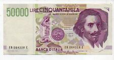 Lire 50000 Cinquantamila Bernini 1992 serie EB 064328 E   gov. Fazio