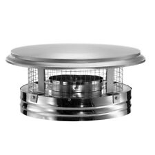 DuraVent Round Chimney Cap Pipe Stainless Steel Top Mount 6In Round Flue Stove