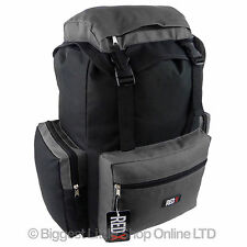 NEW Mens Boys Black/Grey BACKPACK RUCKSACK by RED X School College Sport Travel