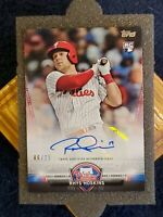 SP⭐#6/25⭐🔥RHYS HOSKINS🔥2018 Topps Update Salute Autograph Parallel Rookie⚡MINT