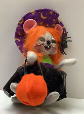 """New W/ Tags Annalee 2012 6"""" Halloween Purple Trick Or Treat Witch Mouse 301112"""