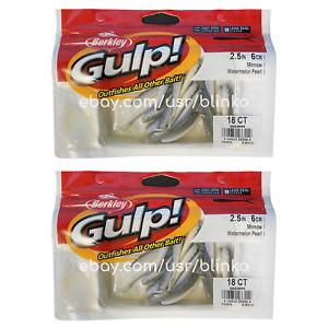 2 Pack / Berkley Gulp GMI2-WMPR Gulp Watermelon Pearl Minnow Gulp! 18 36