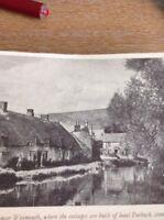 Ephemera 1949 Book Picture Sutton Poyntz Near Weymouth da3