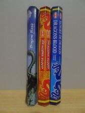Dragons Blood MIX Incense 3 Packs x 20 Sticks Kamini & HEM Hex Free Post AU