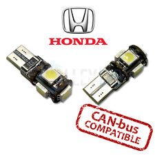 FITS Honda brillante LED de luces de Luz lateral Canbus 501 Bombillas W5W 5 SMD BLANCO