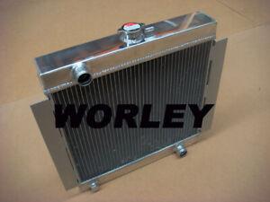 3 rows aluminum radiator for Ford Escort Mk1 Mk2 RS2000 1968-1980 manual