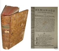 Almanach littéraire ou étrennes d'Apollon - 1779 et 1780 - Necker, D'Alembert...