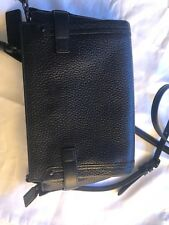 Coach Swagger Wristlelet Crossbody in Pebble Leahter Black
