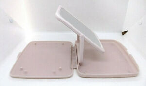 Mary Kay Pink Plastic Travel 2 Sided Fold Away Makeup Cosmetic Mirror