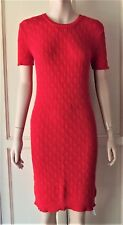 American Apparel Cable Knit Tennis Cotton Dress Red Wear to Work Casual Medium