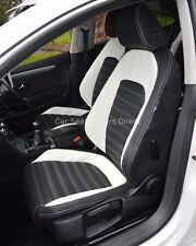 VW Passat CC Genuine Fit Tailored Waterproof Seat Covers Black & White