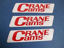 "FREE SHIP-INDIANA SHOP FIND=3 CRANE CAM STICKERS-6-1/2"" X 1-5/8""-BEST DEAL"