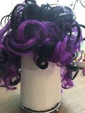 Adult Black & Purple Crazy Curls Wig, Halloween Costume, Dress Up, Color Hair
