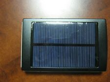 Black Solar 20000mAh Portable USB External Battery Charger Power Bank Cell Phone