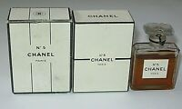 Vintage Perfume Bottle Chanel No 5 Bottle/Box 1951-58 1/2 OZ Sealed 3/4 Full #2