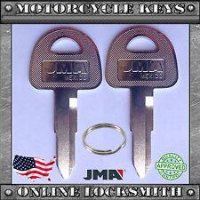 2 NEW BLANK UNCUT KEYS FOR SUZUKI GSX 1100F KATANA 1970-1993 MOTORCYCLES