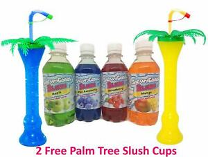 Slush Syrup MIX 'N' MATCH  4 x 250ml Includes 2 x Palm Tree Cups