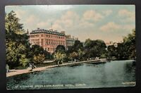 1914 Stephens Green Shelbourne Hotel Dublin Ireland Real Picture Postcard Cover