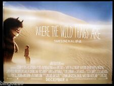 WHERE THE WILD THINGS ARE  QUAD POSTER SPIKE JONZE MAURICE SENDAK 2009