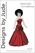 """Starlight Doll Clothes Sewing Pattern for 10"""" Coquette Cissy Madame Alexander"""