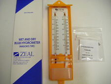 Zeal P2505 Wet And Dry Bulb Hygrometer (Masons Type) Non Toxic Red Spirit
