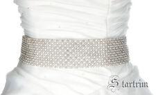 PAM 12 rows Swarvoski rhinestone pearl Rose bridal sash,belt
