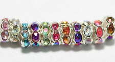 100pcs Rondelle Acrylic Crystal Rhinestone Beads Spacer 6mm For Jewelry DIY