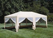 Deluxe Beige 12' x 20' Screen House | Outdoor Wedding Party Tent Pavilion Gazebo