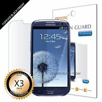 3x Anti-Glare Screen Protector For Samsung Galaxy SIII S3 i9300/T999/i535/L710