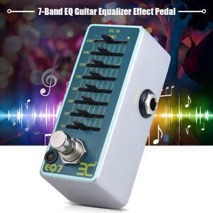 Portable ENO EX EQ7 Guitar Equalizer Effect Pedal 7-Band EQ True Bypass