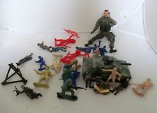 Lot Vintage Toy Soldiers Cowboys Indians Navy Army Tank Men Action Figure Set