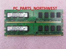 GUARANTEED MICRON 4GB DDR2 KIT (2GB x 2) PC2-6400 PC2-5300 DESKTOP RAM MEMORY