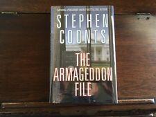 THE ARMAGEDDON FILE, Stephen Coonts, SIGNED, 1st printing 2017 HCDJ