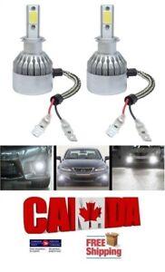 2x H3 LED 72W 7600LM Pair Headlight Kit Set Light Bulb 6500K White Light