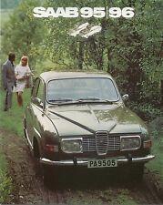Saab 96 & 95 V4 1971-72 Original UK 16pp Sales Brochure Pub. No. 5P71006