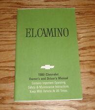 Original 1980 Chevrolet El Camino Owners Operators Manual 80 Chevy