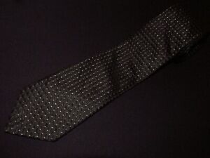 Donald Trump Tie Extra Long XL Signature Black Solid Check Gold Woven Luxury Men