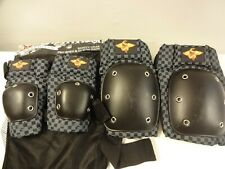 New ListingSkateboard Pads Size Teen/Adult L/M Kryptonics Pro Knee and Elbow Safety Gear Gc