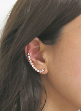 Gold Plated Alloy Crystal Ear Cuff (Right Ear Only)